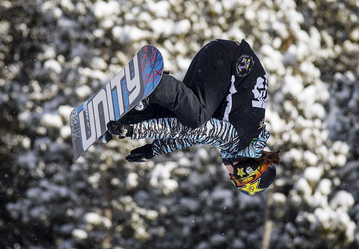 Arielle Gold competes in the halfpipe qualifiers during the Dew Tour event last month in Breckenridge.