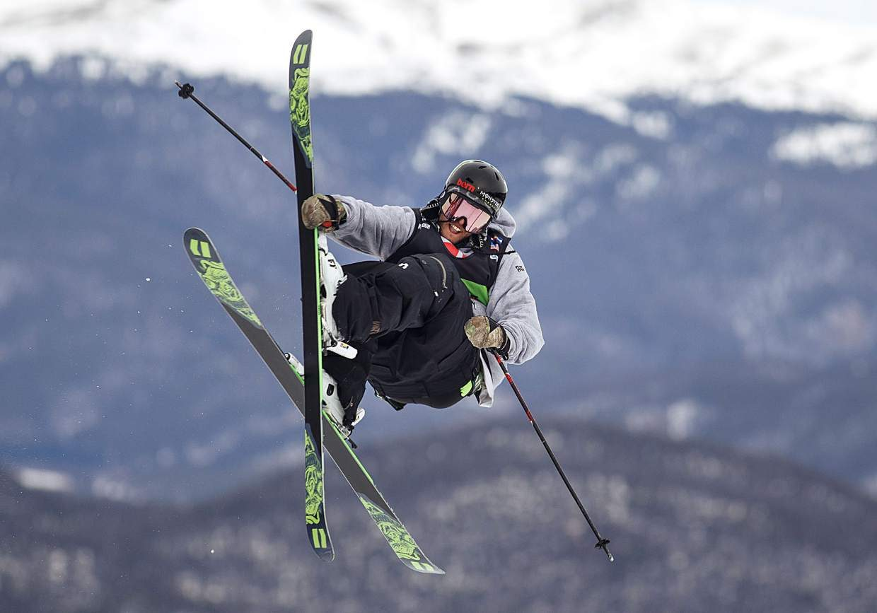 Henrik Harlaut of Sweden competes in the slopestyle finals during the Dew Tour event Saturday, Dec. 16, at Breckenridge Ski Resort. Harlaut took home first with a high score of 95.