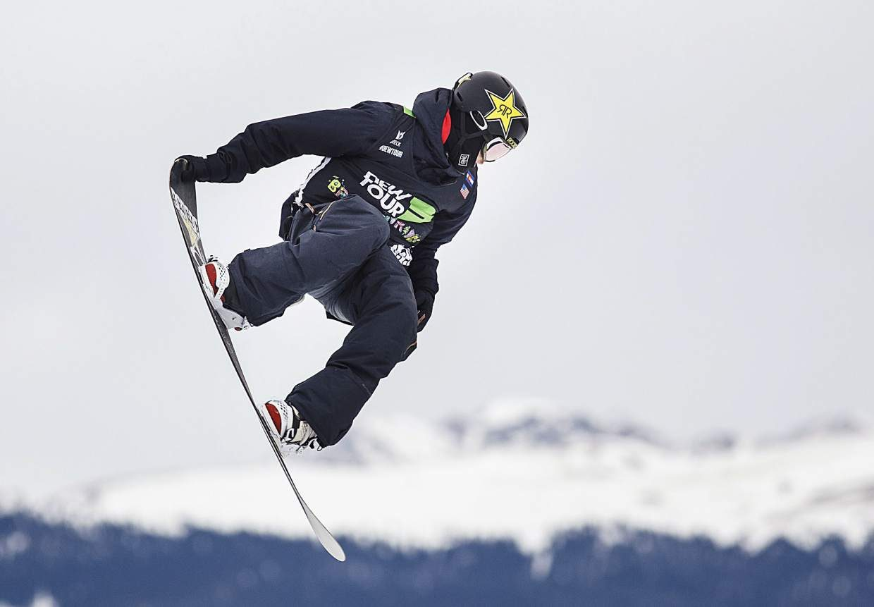 Mons Roisland of Norway competes in the slopestyle finals during the Dew Tour event Saturday, Dec. 16, at Breckenridge Ski Resort.