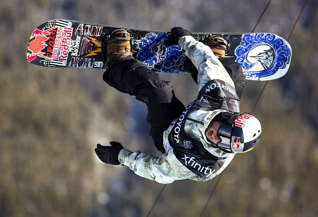 Ben Ferguson of United States competes in the halfpipe finals during the U.S. Grand Prix event Saturday, Dec. 9, at Copper Mountain. Ferguson took home second with a high score of 89.75.