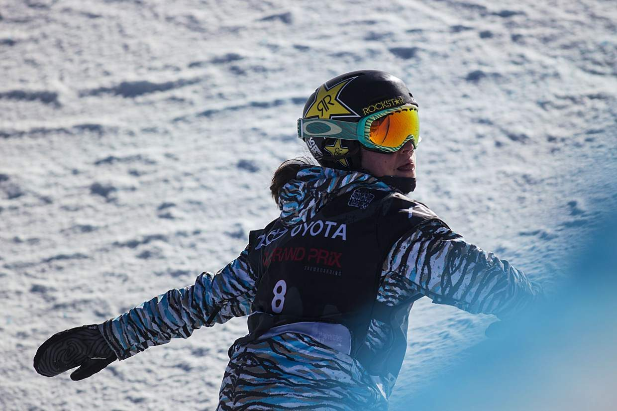 Arielle Gold of United States competes in the halfpipe finals during the U.S. Grand Prix event Saturday, Dec. 9, at Copper Mountain. Kim took home first with a high score of 93.75. Gold placed 5th in the event.