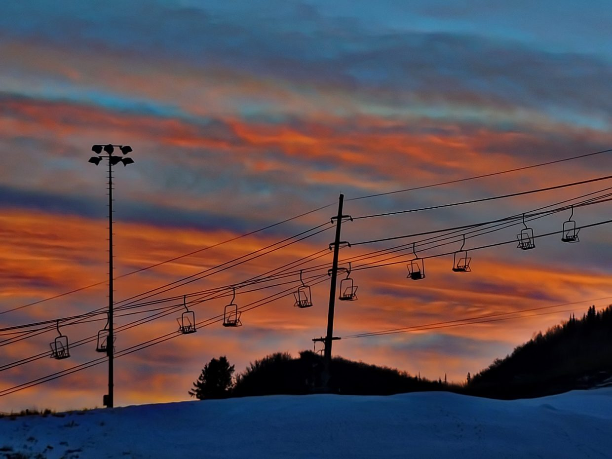 The Barrows Chairlift at Howelsen Hill sits ready for skiers at sunrise in 2017. Maintenance and upgrades at Howelsen Hill will be recommended as a high-priority project in a new parks and recreation master plan.