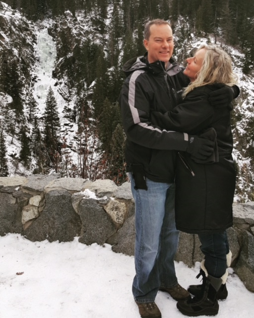 This photo was taken on our hike at Fish Creek Falls. We are from Fort Worth, Texas, here in Steamboat for the week to enjoy the skiing and your beautiful town! This is our 3rd year to visit! We love Steamboat! - Danny and Marla Smith