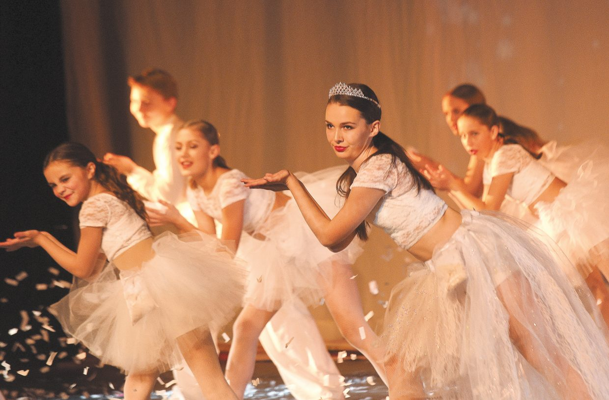 Dancer Brenna Herndon performs as the Snow Queen during a dress rehearsal for the Nutcracker Wednesday evening. The shows will take place at 6:30 p.m. Friday and 1 p.m. and 6:30 p.m. Saturday. All shows will be performed at the Steamboat Springs High School auditorium.