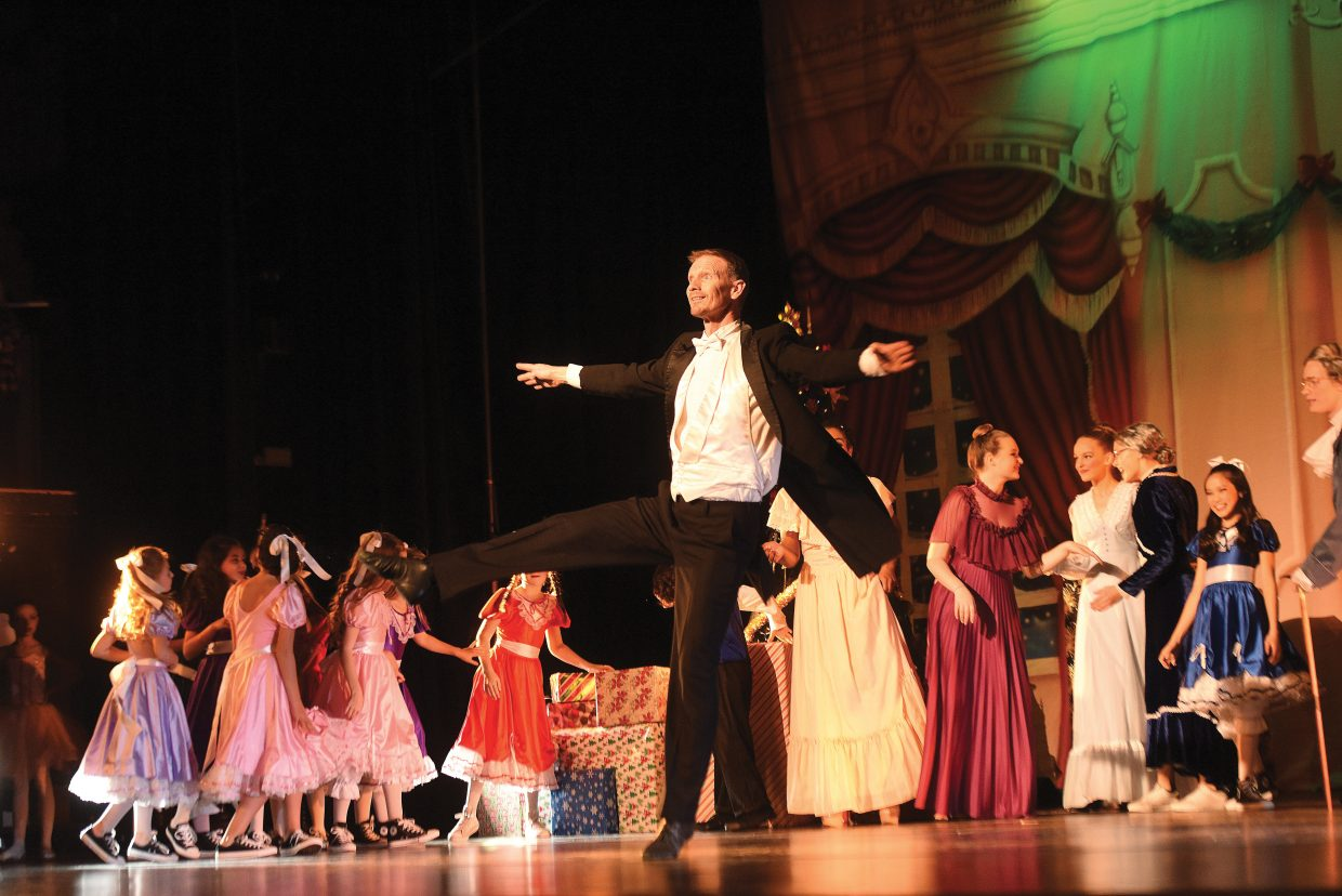 Dancer Don Miles performs during a dress rehearsal for the Nutcracker Wednesday evening. The shows will take place at 6:30 p.m. Friday and 1 and 6:30 p.m. Saturday. All shows will be performed at the Steamboat Springs High School auditorium.