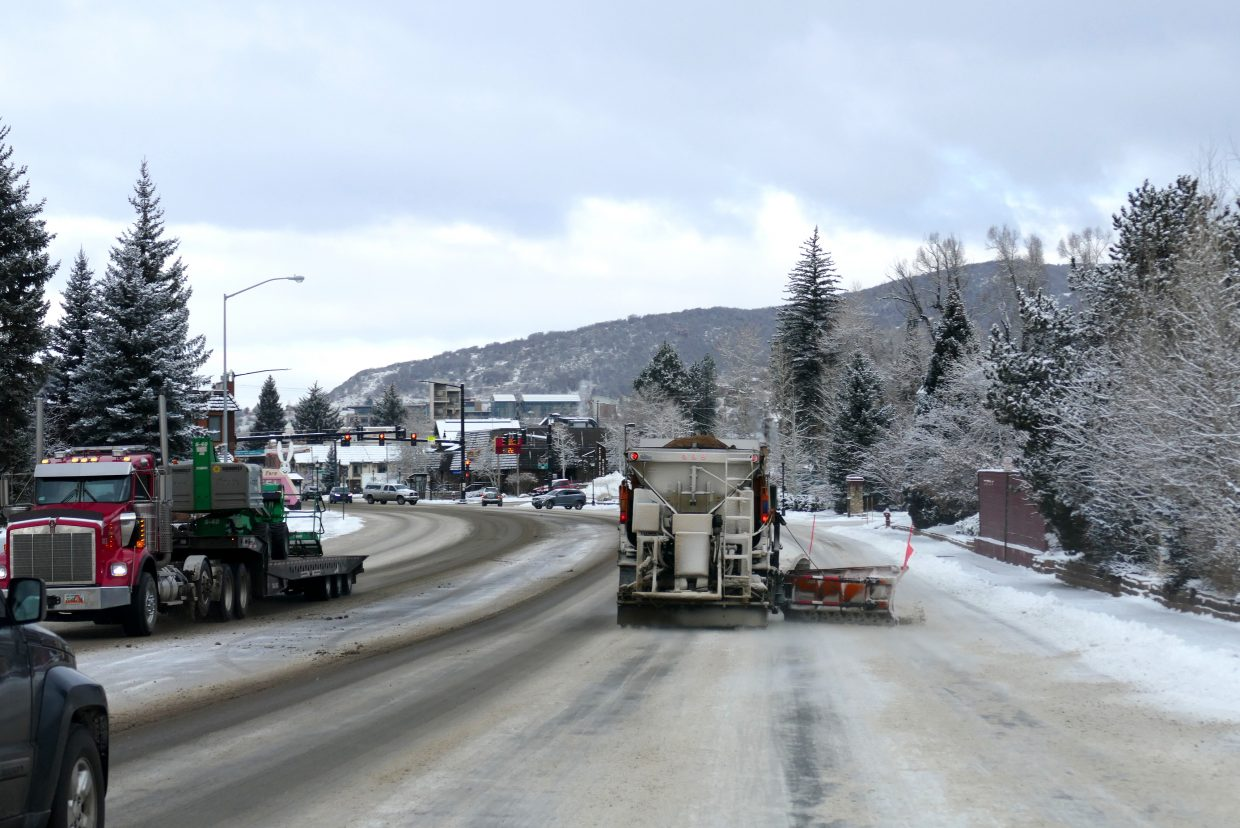 We have snow in Steamboat, so the snowplows are out and in action.