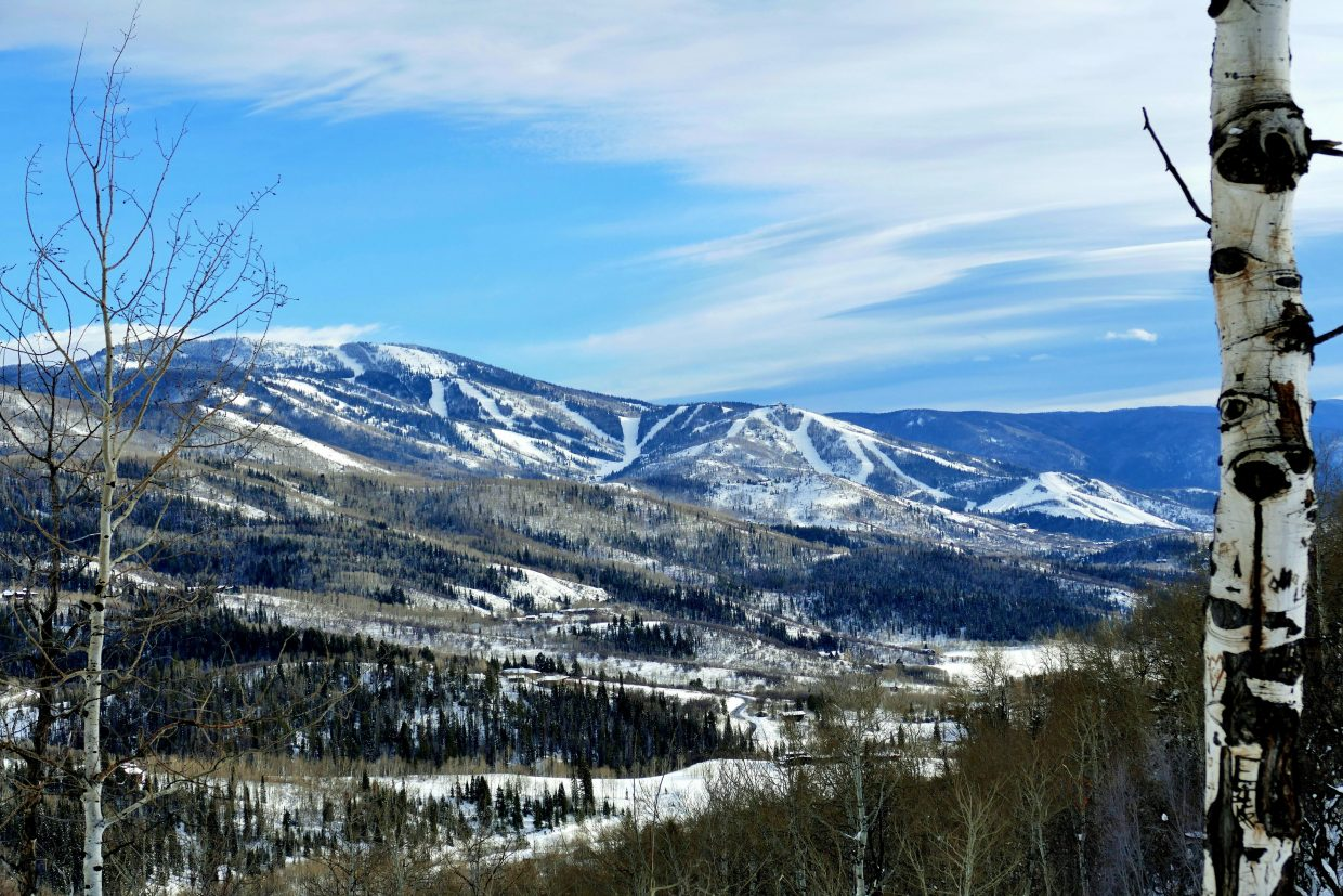 Steamboat Ski Area from Strawberry Park