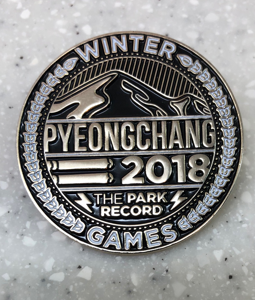 Park Record pin: Acquired: Ed Stoner Thoughts: I flipped one of my luge pins for a one of the other Swift Communications pins I didn't already have, from the Park Record. Nice looking, but obviously not the best one the company produced for the 2018 Games. (Yeah, I'm biased toward the Steamboat pin.) Rating: 7
