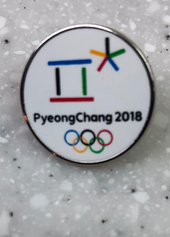 Pyeongchang 2018 Acquired: Trade with Korean volunteer. Thoughts: I had one Steamboat pin. She had two Pyeongchang 2018 pins she was willing to part with. She seemed surprised I was willing to take them, but it was late in the process and I liked that they were specific to Pyeongchang, if a bit boring. Rating: 3.5 (plus another 3.5 for its pair makes 7.)