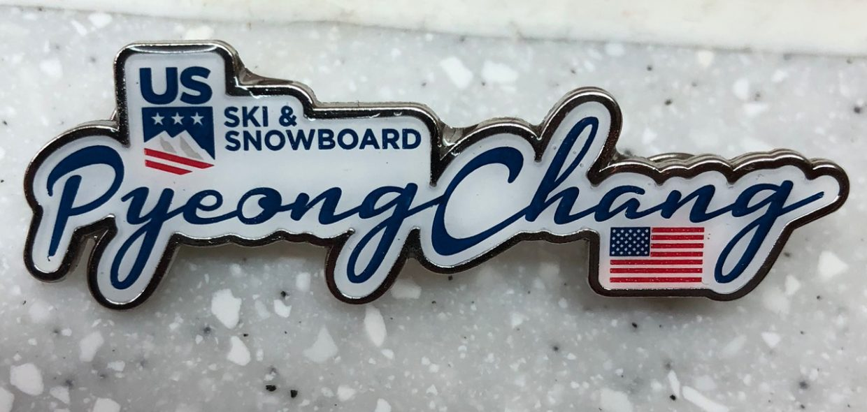 United States Ski and Snowboard Pyeongchang pin: Acquired: Trade with Korean volunteer. Thoughts: It hits a lot of the things you want. It's specific to Pyeongchang, and specific to a place, the United States. I, too, am from the United States, and I liked it. It's also the largest pin. Rating: 8