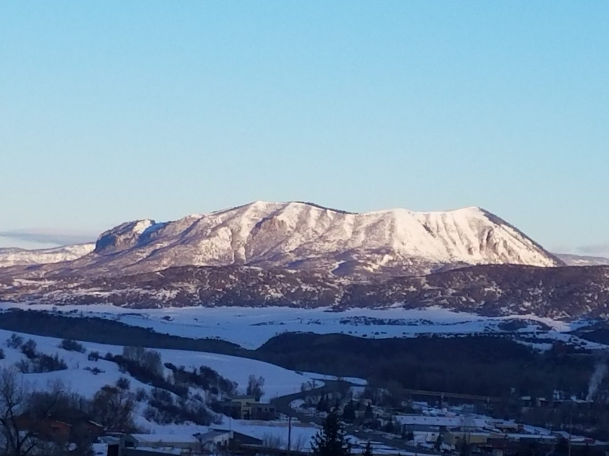 A shot of the Sleeping Giant in the morning sun.