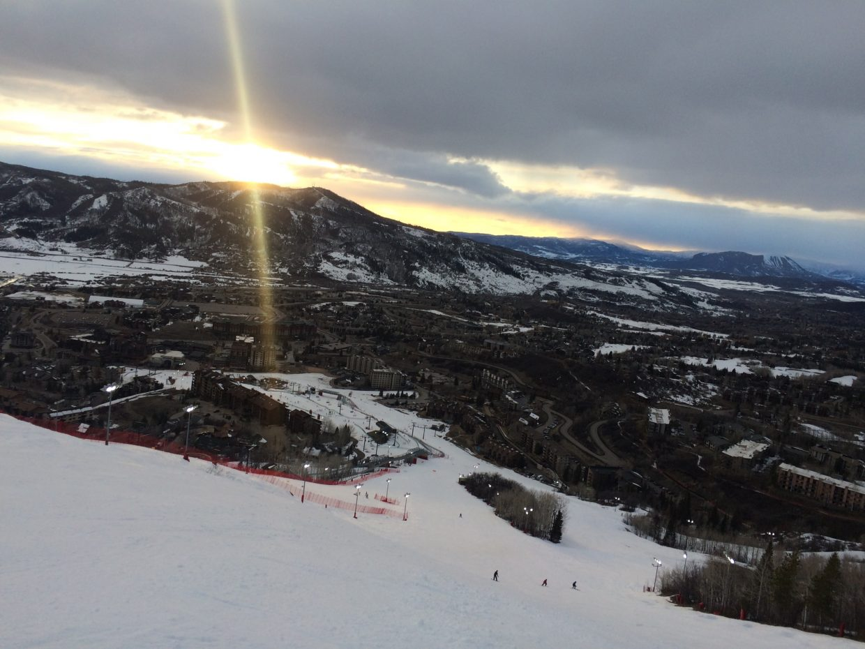 A shot of the sunset from the Steamboat Ski Area.