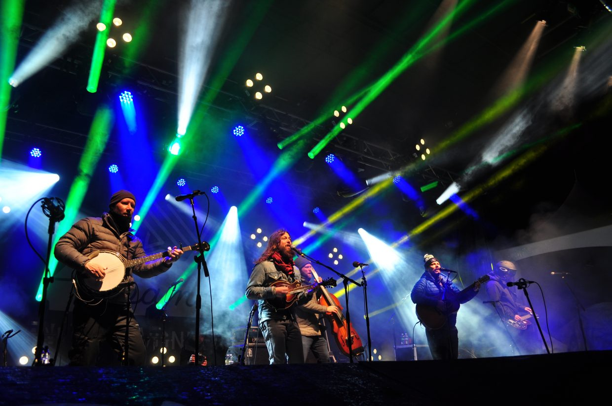 Greensky Bluegrass played Main Stage on Saturday at WinterWonderGrass in Steamboat Springs.