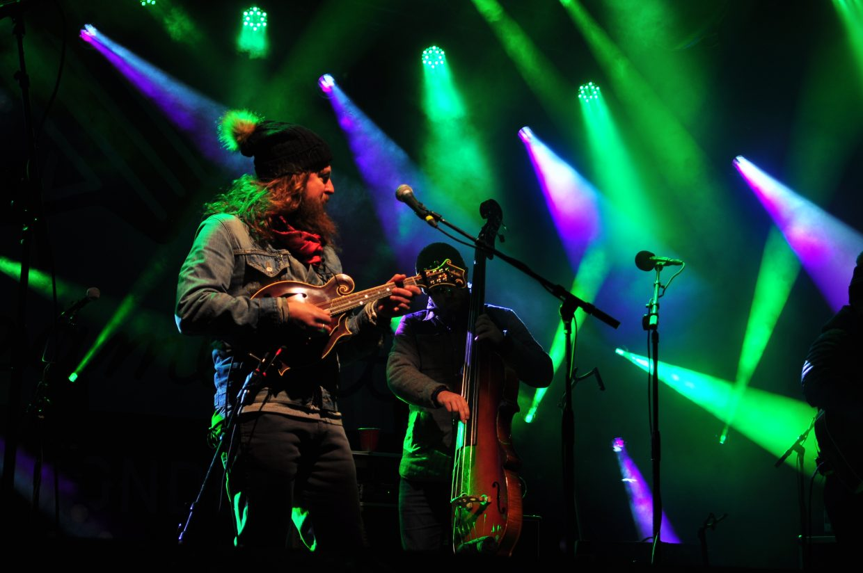 Greensky Bluegrass played Main Stage in March 2018 at WinterWonderGrass in Steamboat Springs.