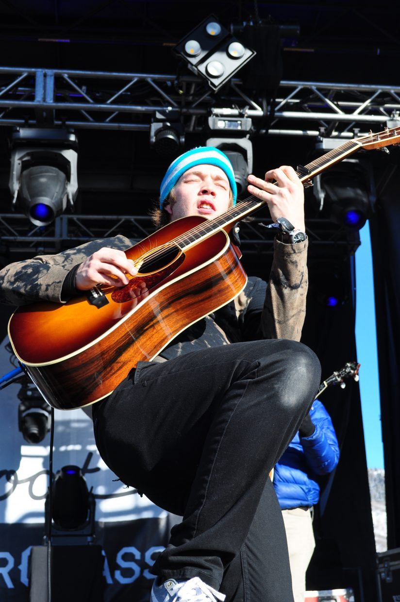 Billy Strings plays the Main Stage at WinterWonderGrass in Upper Knoll Lot in Steamboat Springs on Sunday.