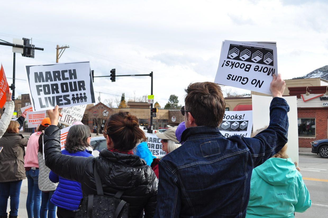 Steamboat Springs students hosted March for Our Lives demonstration on Saturday on the courthouse lawn. The demonstration wrapped up with speakers.