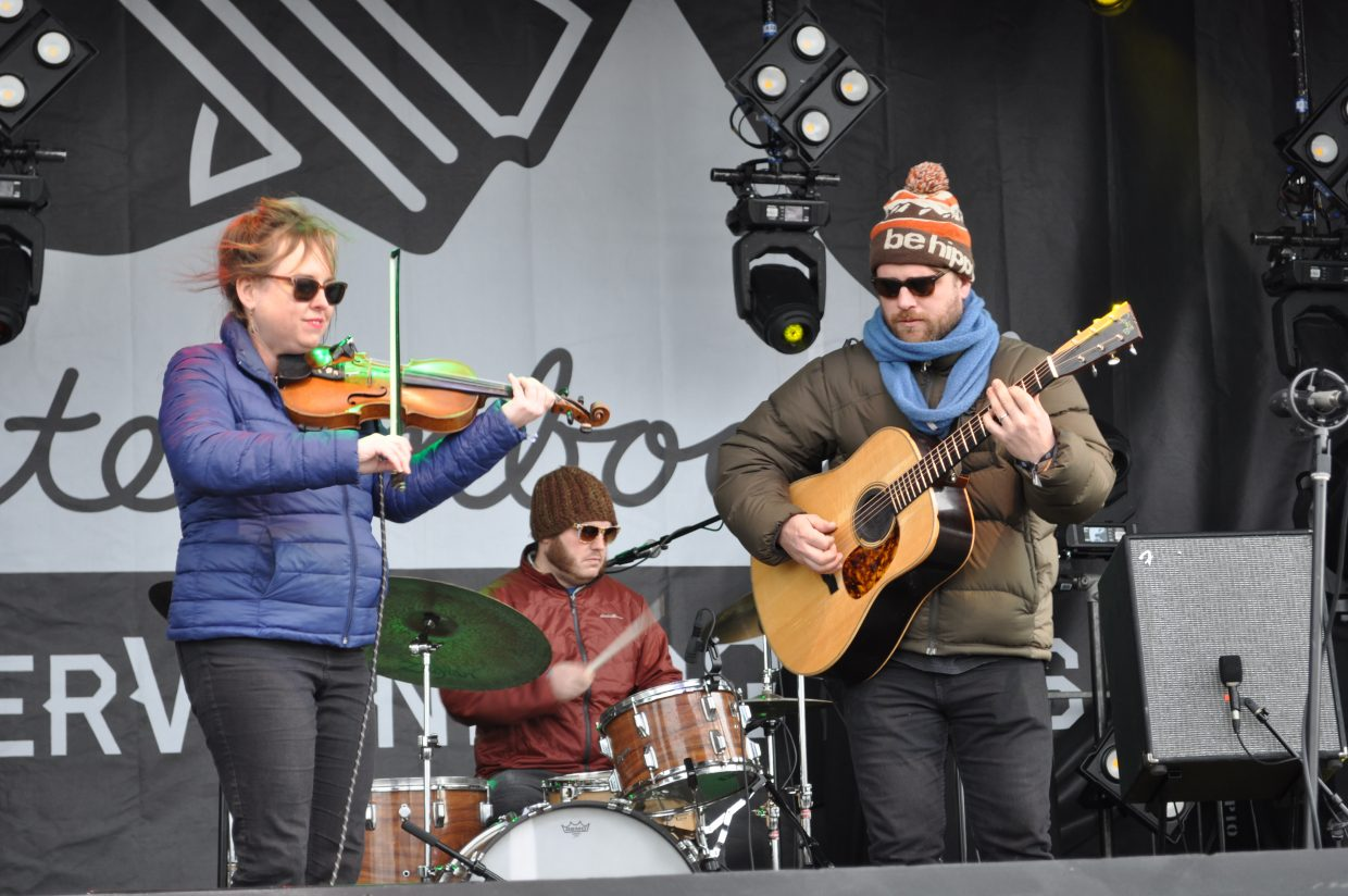 John Stickley Trio plays the Main Stage at WinterWonderGrass on Friday in Steamboat Springs.