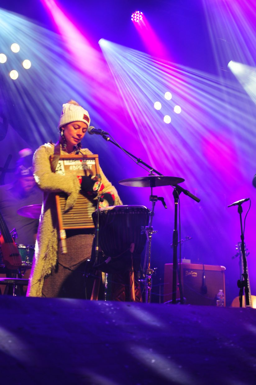 Bonnie Paine, of Elephant Revival, plays Main Stage at WinterWonderGrass on Friday in Steamboat Springs.