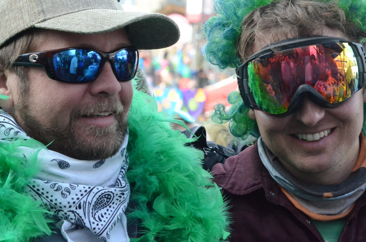 Concert goers dress for St. Patrick's Day.