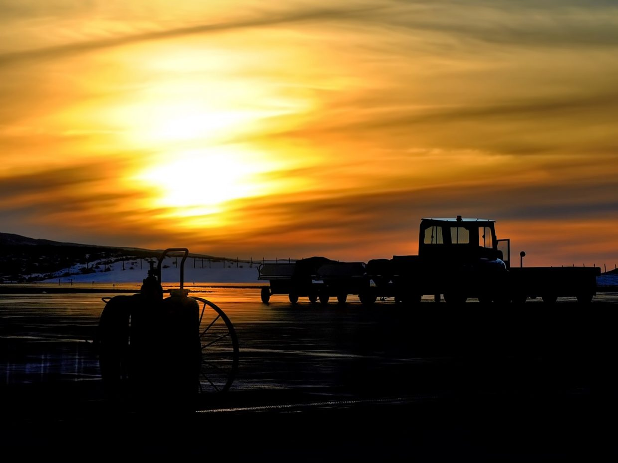 The sunsets at the Yampa Valley Regional Airport in Hayden.
