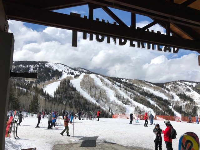 A shot from Thunderhead of the Steamboat Ski Area before the snow fell this afternoon.