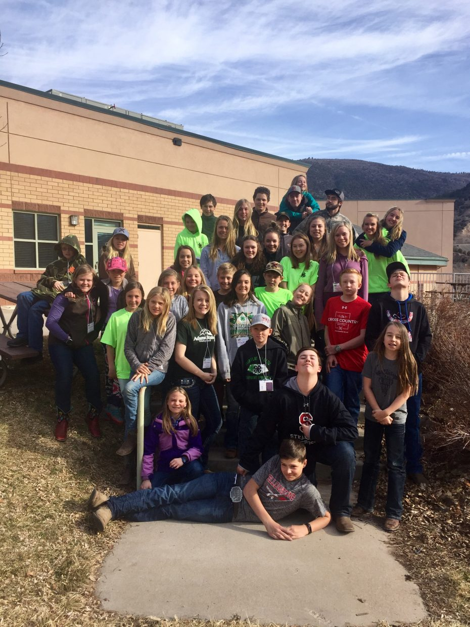 This past weekend Routt County 4-H took 38 members (ages 10-18) to our 4-H District Retreat in Glenwood Springs.