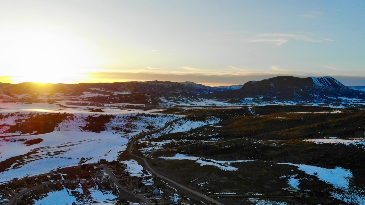 Sun sets on the western front in Steamboat Springs.