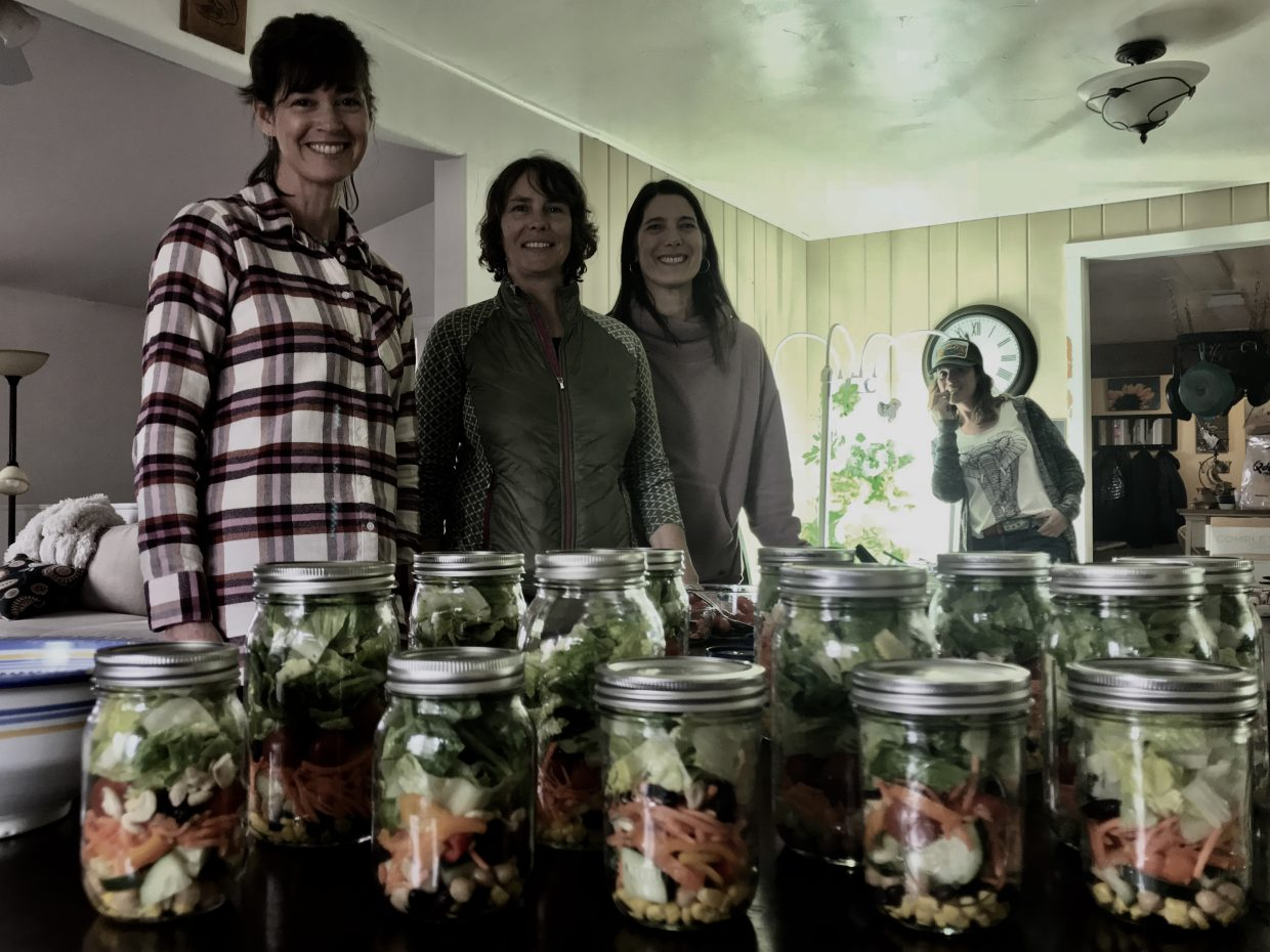 Inspiring Healthy Living in Steamboat at our local Salad in a Jar event.