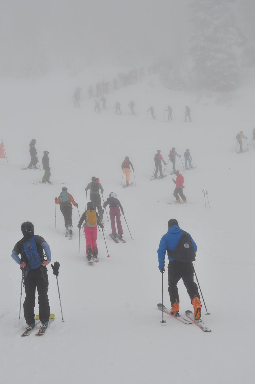 The 10th annual Cody's Challenge started out in the clouds from Thunderhead Lodge at Steamboat Ski Area on Saturday.