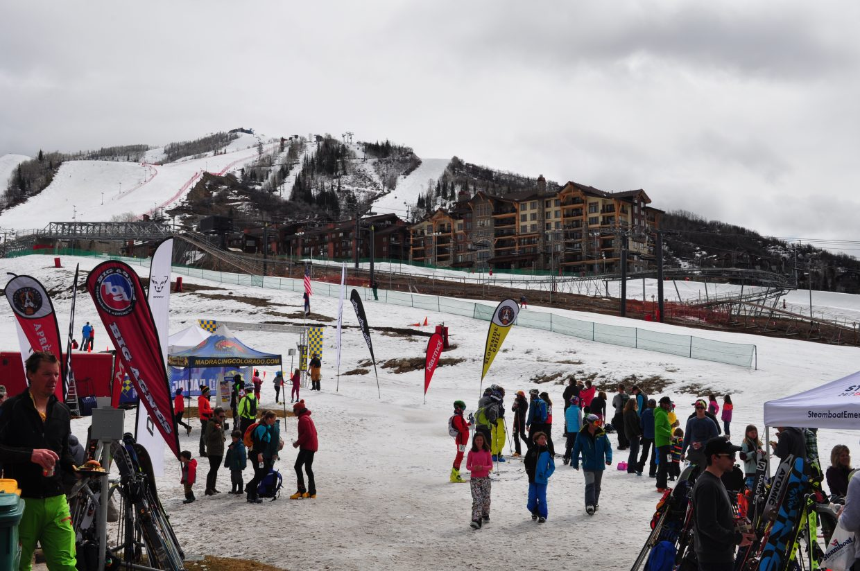 The clouds broke from participants and supporters to enjoy lunch and refreshments at Slopeside Grill at Steamboat Ski Area base on Saturday. BC3 played music for the afterparty as skiers and riders crossed the finish line.