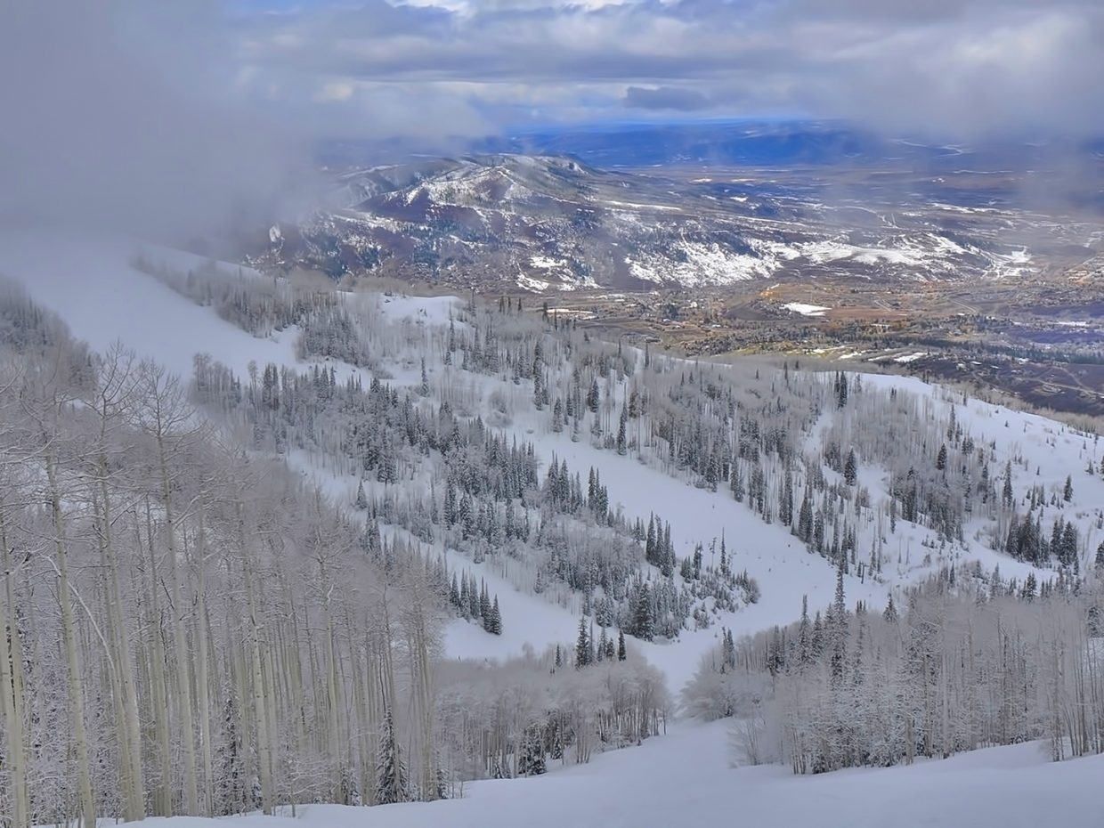 Yampa Valley from the Steamboat Ski Area.