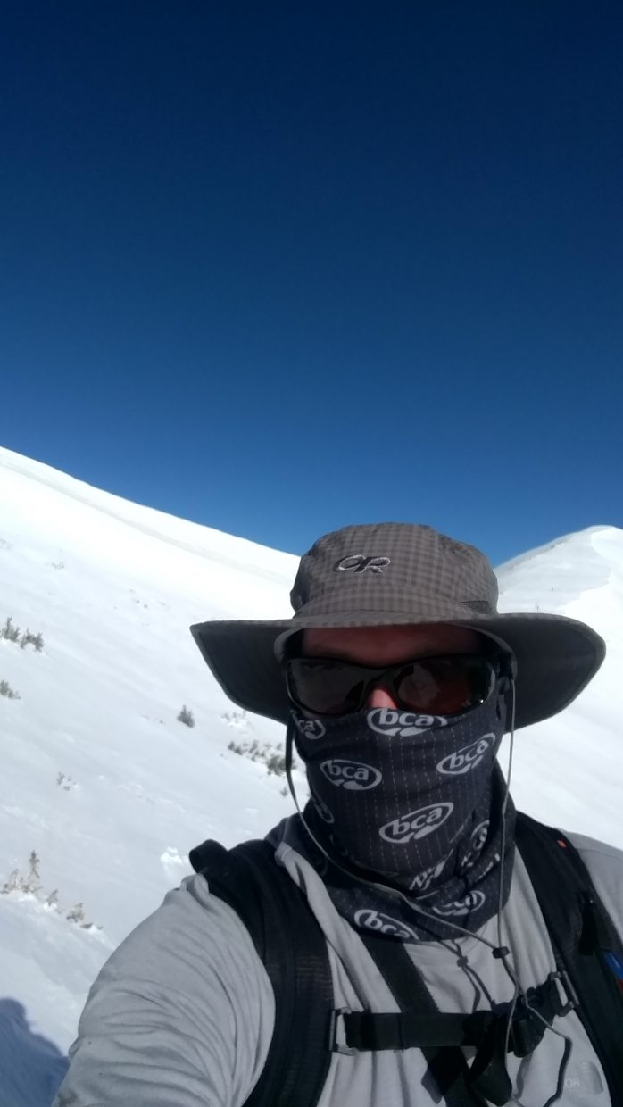 Matthew Wood takes a selfie at Cameron Pass.