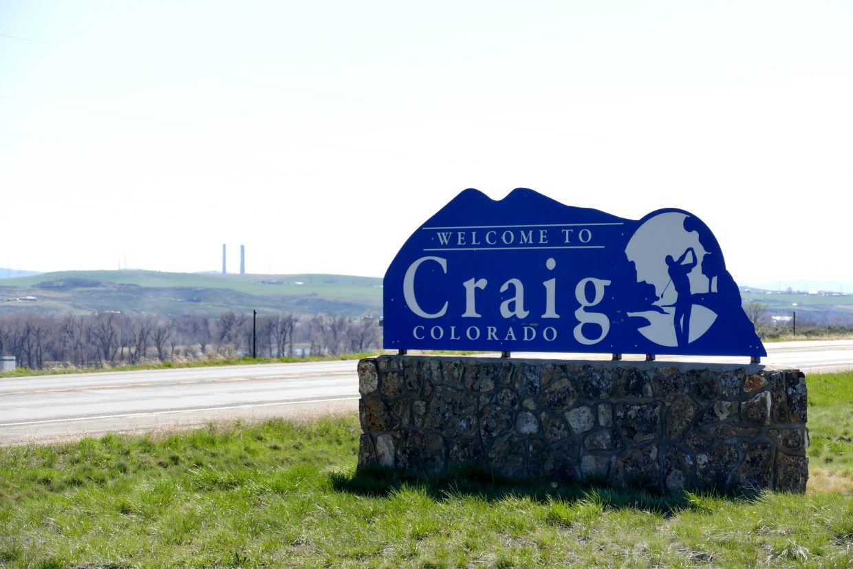 Craig Colorado welcome sign.