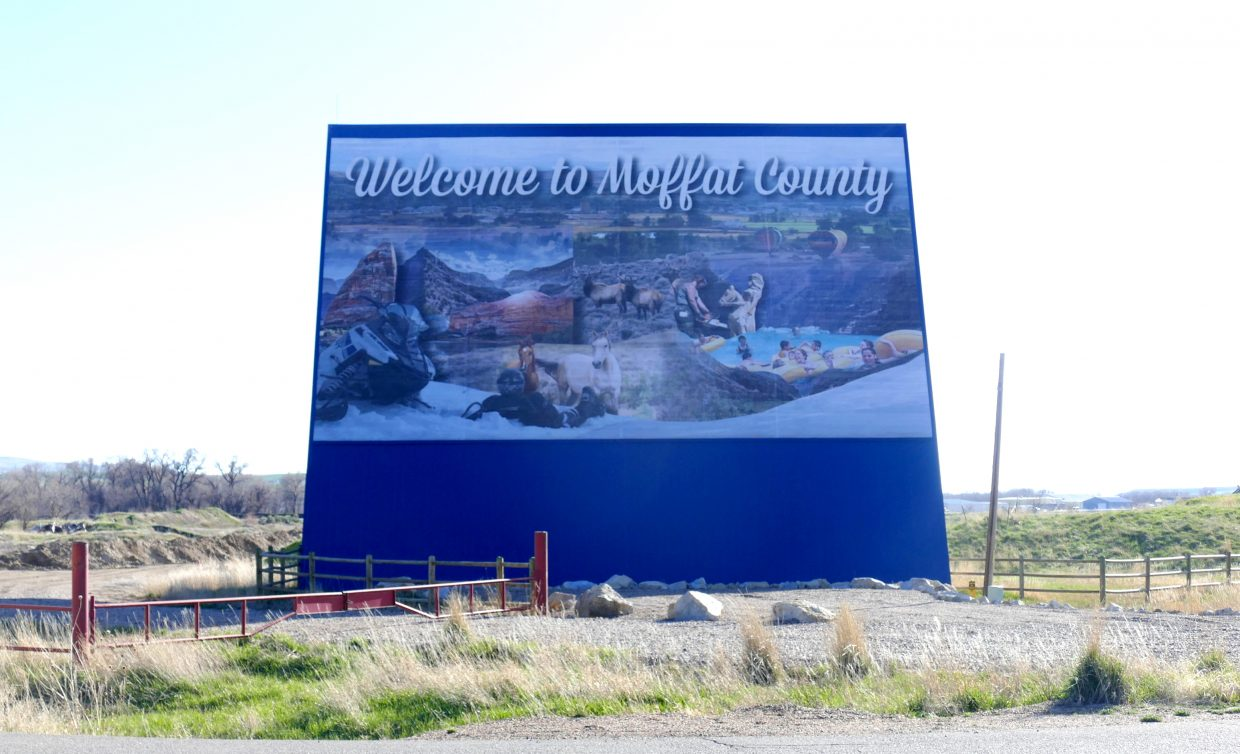 Moffat County welcome sign