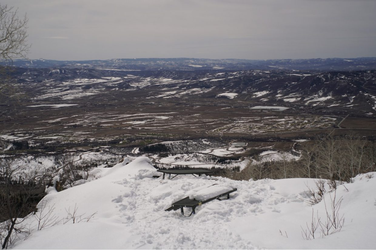 A shot of the Yampa Valley from the Steamboat Ski Area.