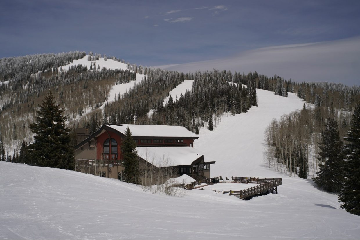 A shot of Christie's Peak at the Steamboat Ski Area.