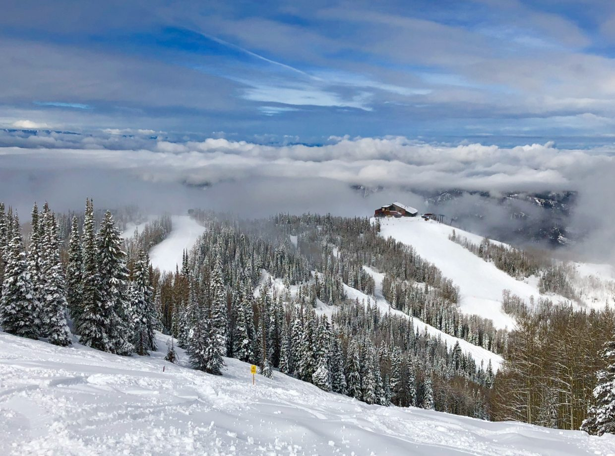 A shot of Thunderhead at the Steamboat Ski Area.