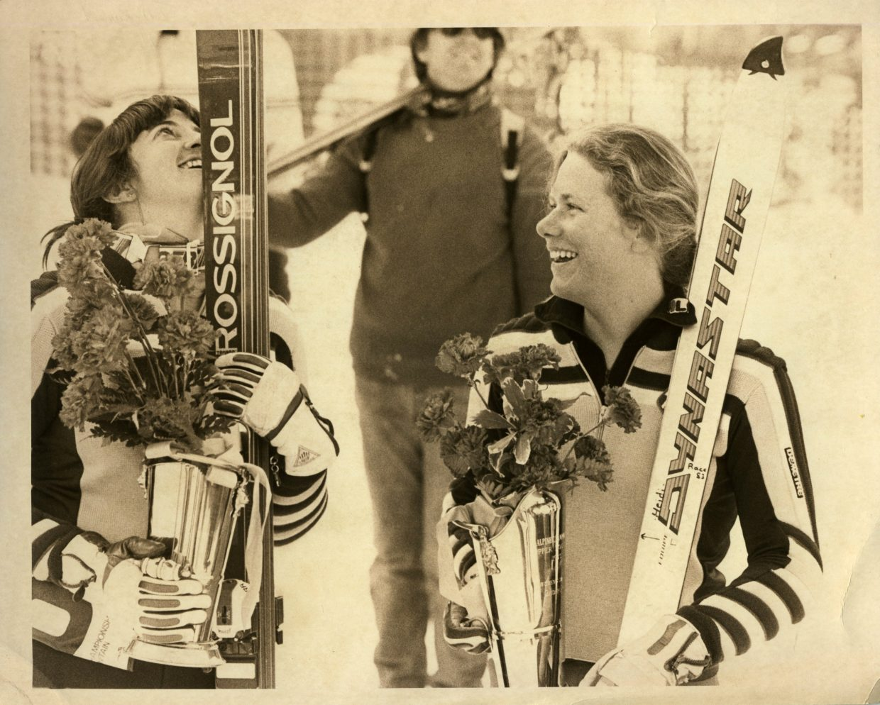 Longtime World Cup and U.S. Ski Team Alpine skier Heidi Bowes, of Steamboat Springs, placed second to teammate Tamara McKinney, in the slalom event at the U.S. National Championshipsat Copper Mountain in 1983. It was the year McKinney won the overall women's World Cup. photo: Tom Ross