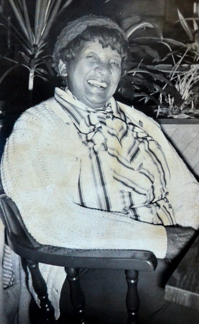 Longtime Strawberry Park resident Daisy Leonard Anderson, pictured here  in 1979, was famous for her magic touch growing strawberries and raspberries and charming the community. But on a national level, she was known for her connection to the Civil War. Daisy, who died at the age of 97 in 1998, was known as one of the last three Civil War widows. The math doesnÕt add up you say? Daisy was 21 when she married 79-year-old Civil War veteran, Buffalo Soldier and former slave Robert Ball Anderson, and lived another 76 years.  She moved to Steamboat several years after her husband did in 1930 and wrote two successful books about her late husband.