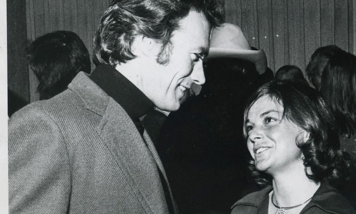 Barbie Wither of Steamboat Springs chats with actor Clint Eastwood at an apres ski party at the Steamboat Village Inn in 1973. The occasion was the Bonne Bell-Frontier Airlines Pro Ski Classic. Other celebrity guests included Ethel Kennedy. Jean Claude Killy won the giant slalom race. It was also the year that Eastwood's classic western film