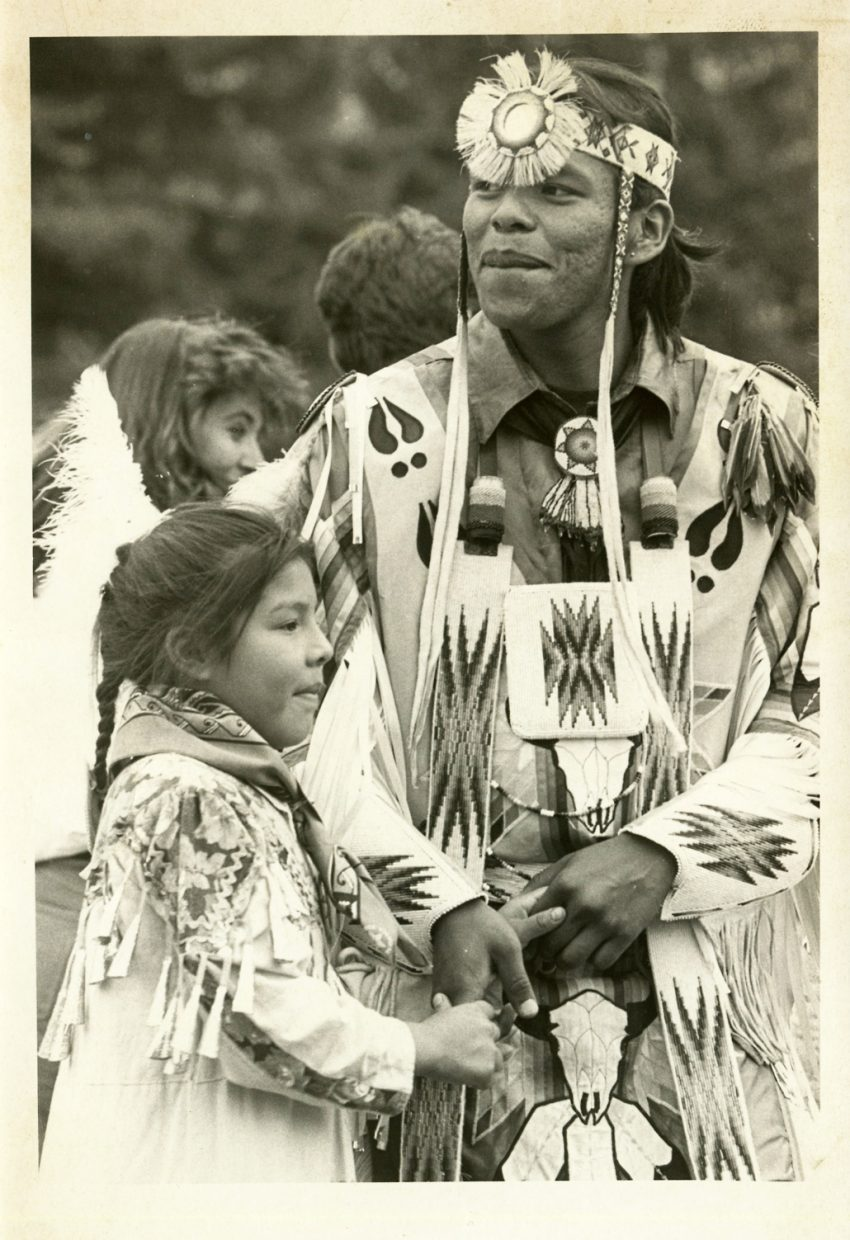 *TheTread of Pioneers Museum sponsored a Ute culture festival during the annual Western Weekend/Chili Cookoff in June 1995. The visit from the Utes represented an all-too-rare opportunity for Twentieth Century Steamboat residents to interact with the native peoples who called the Yampa Valley home.