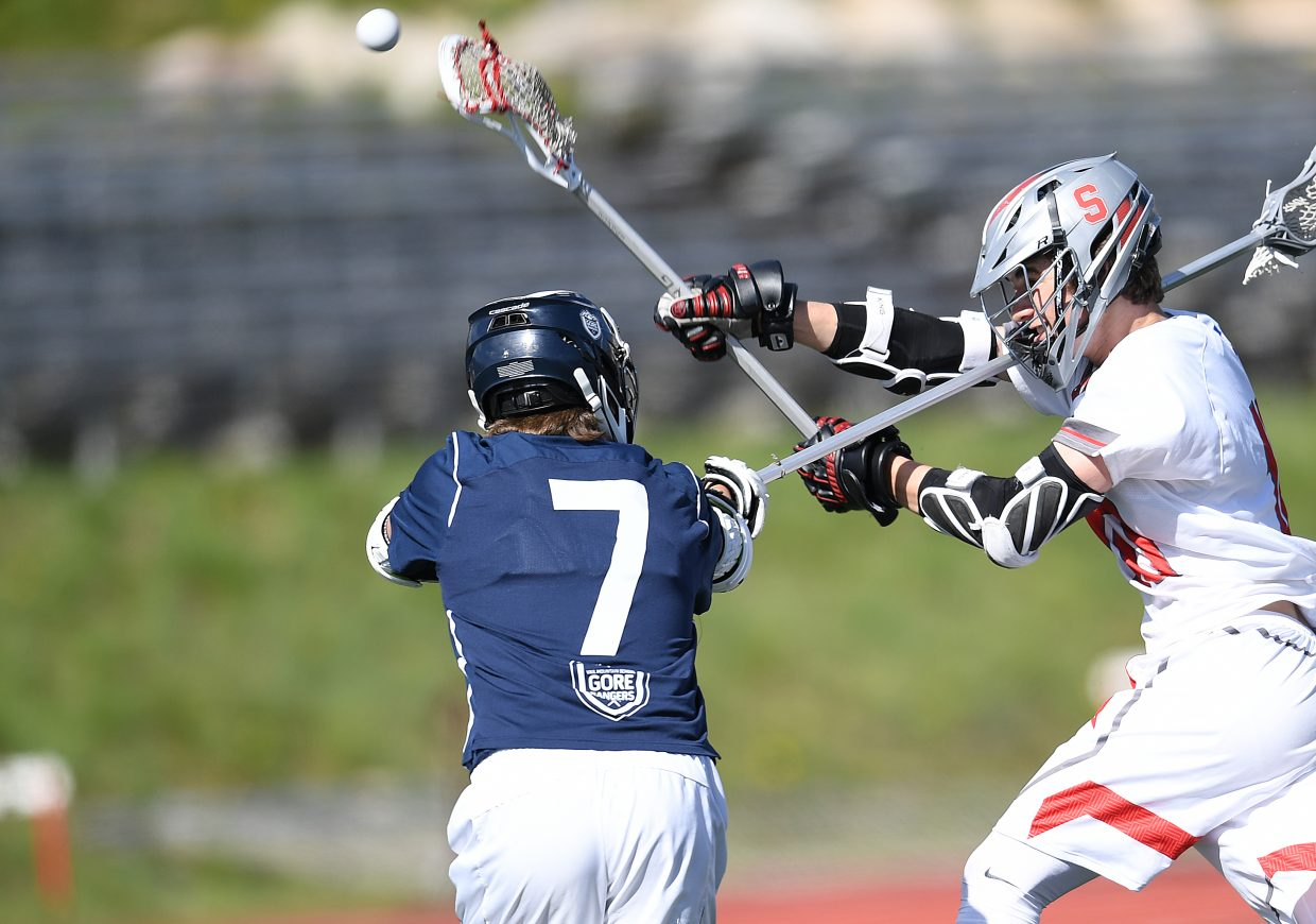 Steamboat's Ben Hoeffer gets a shot off in front of the Vail Mountain defense Friday. The Sailors won the game, 16-2, and will play for the conference championship at 11 a.m. Saturday against Battle Mountain.