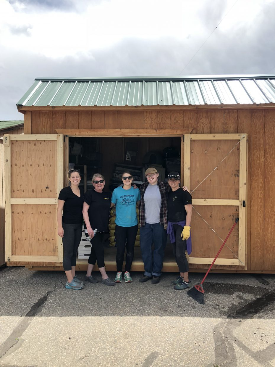 Volunteers help out at the Routt County Humane Society during United Way's annual Day of Caring.