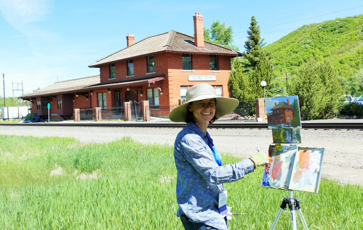 The 27th Annual National Juried Exhibition of Traditional Oils from Oil Painters of America is happening now in Steamboat Springs. We caught Chula Beauregard of Hayden, in action at the Depot today.