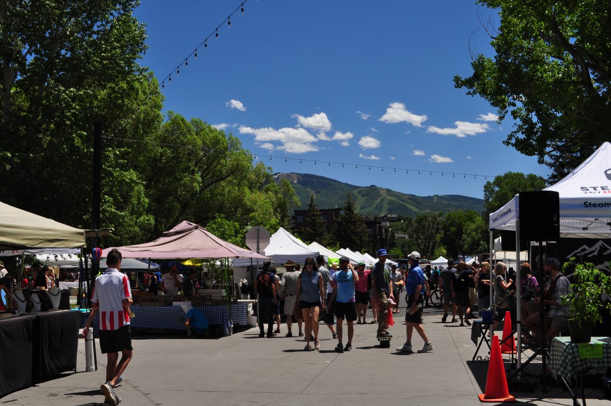 Patrons braved the sun and heat for the Steamboat Farmers Market on Saturday.