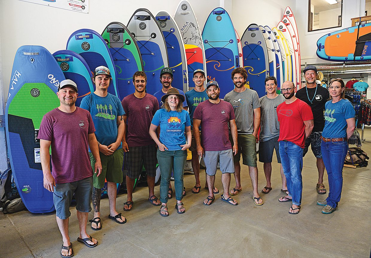 The Hala crew at the new Hala Gear Space offices downtown.