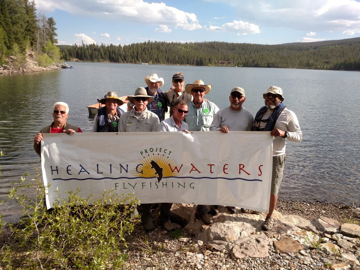 The Yampa Valley Fly Fishers hosted a group of disabled veterans at lake Agnes Tuesday through Thursday.