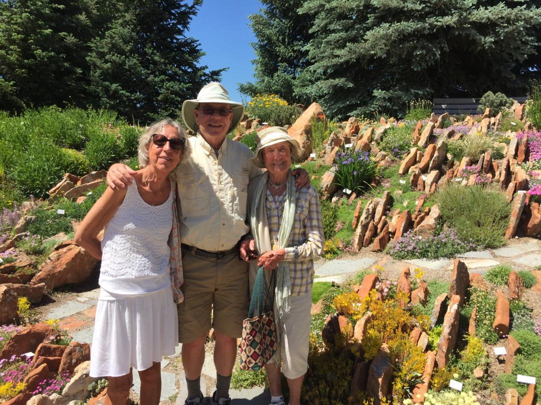 Isabelle's mother Francine Leman, 89, visits Steamboat Springs, the Yampa River Botanic Park and Hahn's Peak.