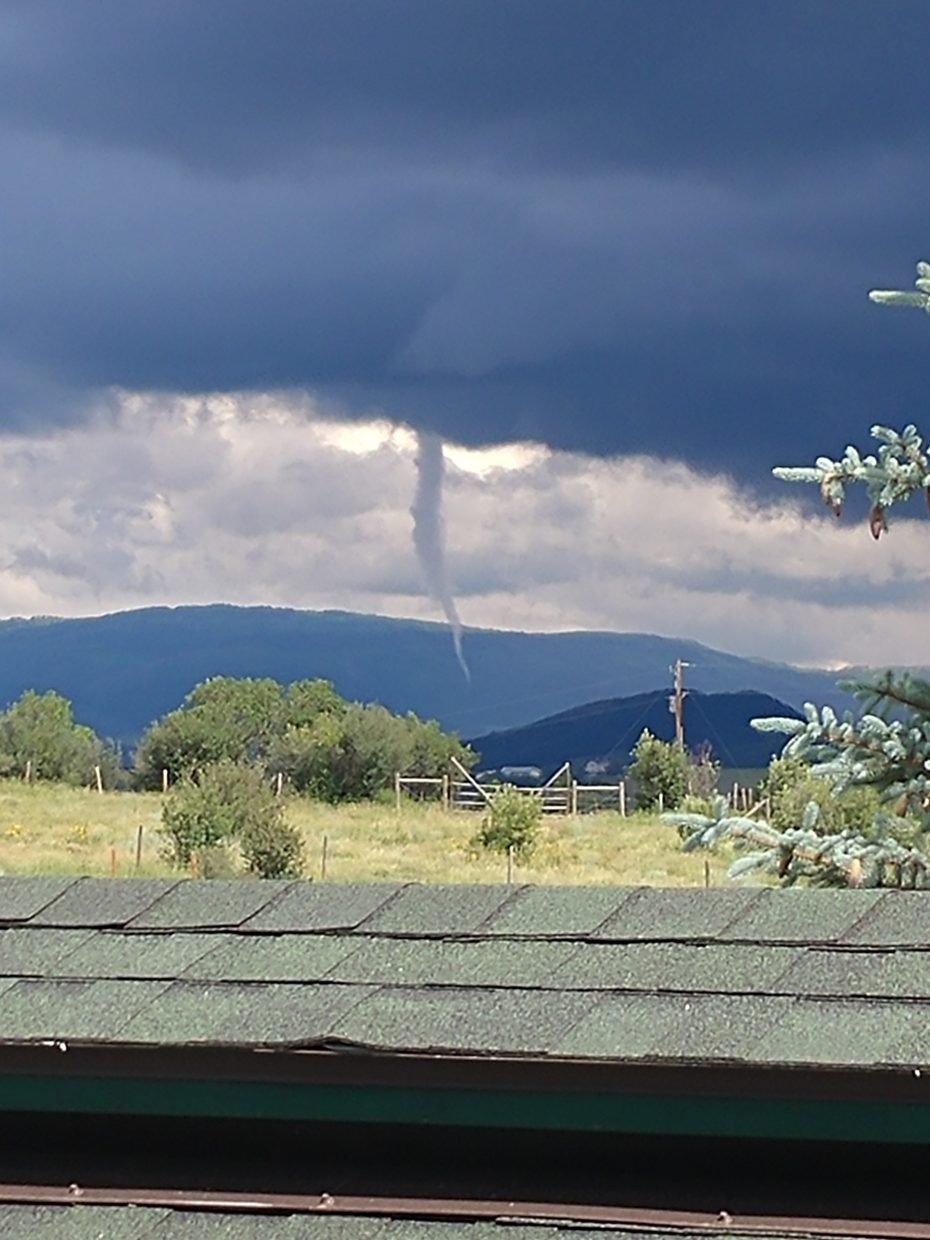 A funnel cloud appeared in Routt County on Sunday, June 24.