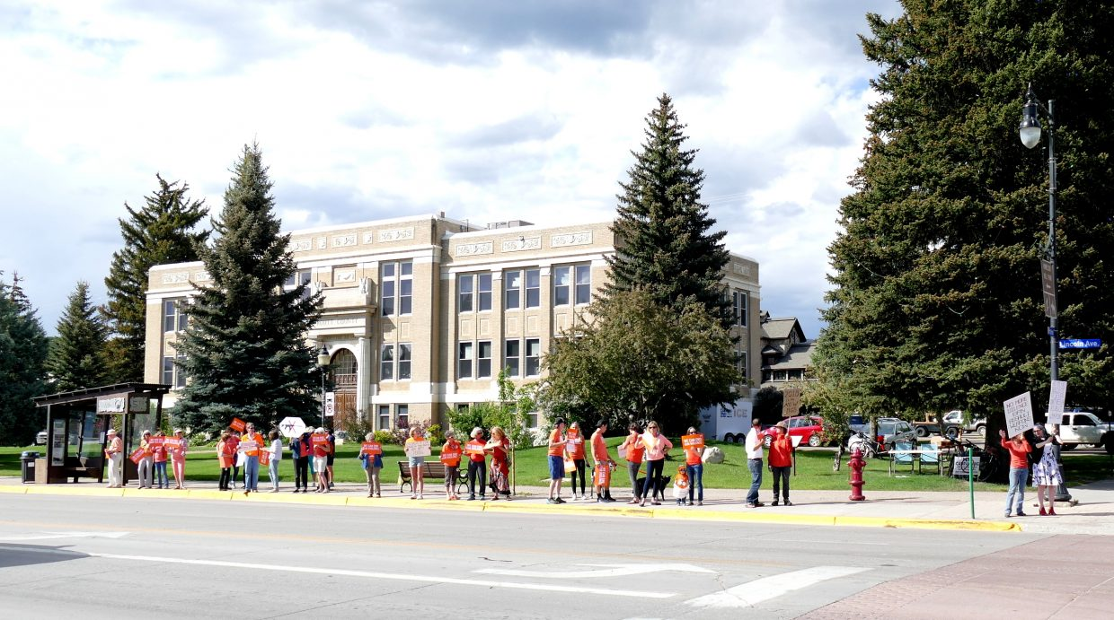 It is Wear Orange Day, which is a national observance victims of gun violence. Some Routt County residents came to the Routt County Courthouse to bring attention to the issue.